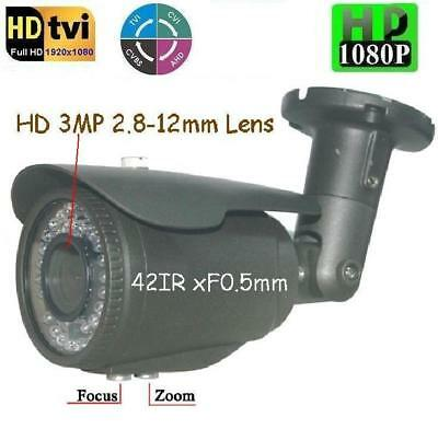 "T123 Sunvision 2.0MP 1080p 1//2.7/"" 4-in-1 Hybrid HD Camera 3MP 2.8-12mm Lens OSD"