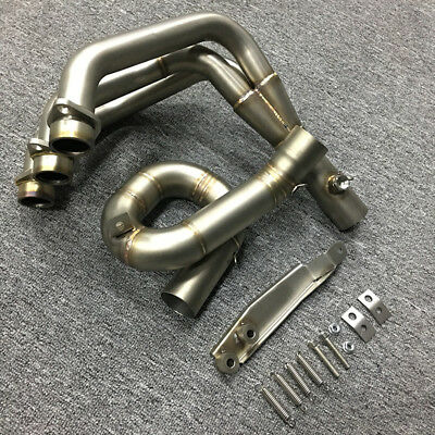 Front Header Link Pipe Tube Modified Motorcycle Slip on Exhaust For Yamaha MT09