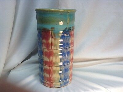 Vintage Multi colored Hull Pottery 8 1/4 in. #26 Vase