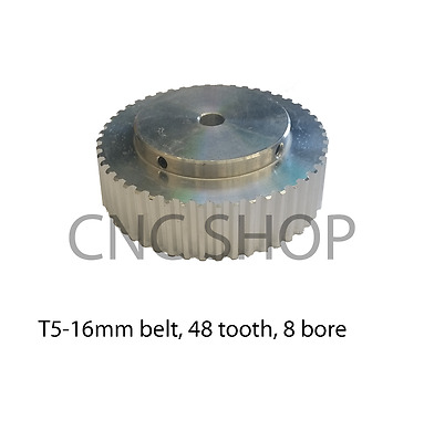 T5 16mm WIDE BELT 48T 8mm BORE TIMING PULLEY CNC MACHINE 3D PRINTER MOTOR DIY