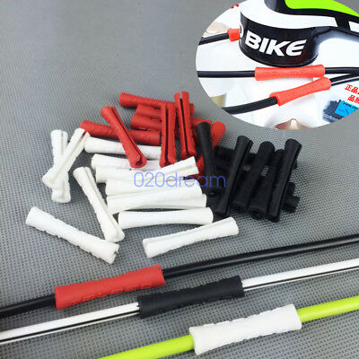 10PCS Silicone MTB Road Bike Outer Brake Gear Cable Wrap Frame Protector Bicycle