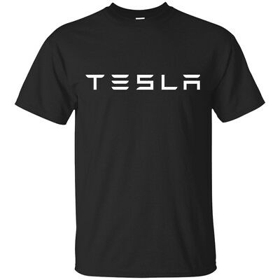Tesla Logo Men's T-shirt Tee Many Colors
