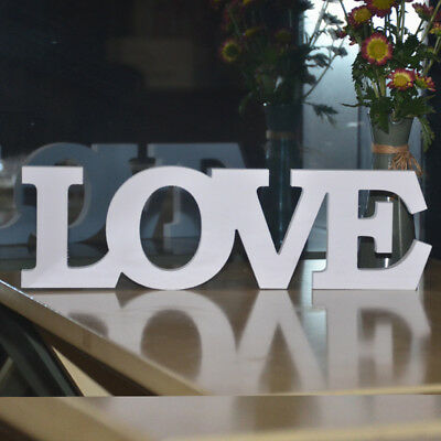 White Wooden Words Live Love Letters Free Stand For Wedding Party Home Decor NR3