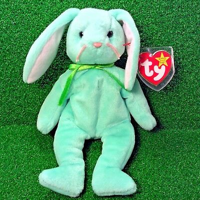 Rare 1996 PE Ty Beanie Baby Hippity The Rabbit Easter Special W/ No Errors MWMT