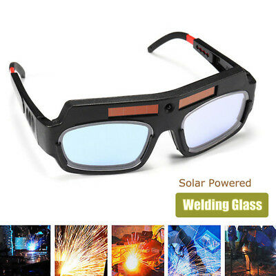 Solar Powered Safety Goggles Auto Welding Eyewear Eyes Protection Welder Glasses