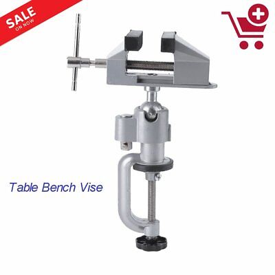 """Universal Table Bench Vise 3"""" Work Bench Clamp Swivel Rotating Hobby Craft BN"""