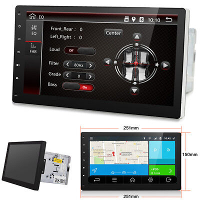 """10"""" HD 2DIN Android 7.1 Bluetooth WIFI Car Stereo MP4 Player Built-in GPS -OBDII"""