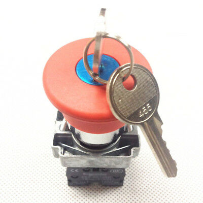 XB2BS142C 1N//C Key Released Red Emergency Stop Mushroom Push Button Switch
