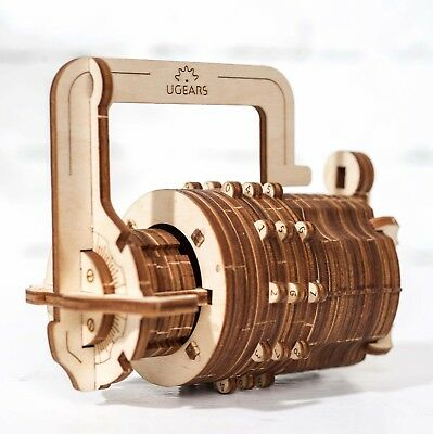 "The UGEARS Model ""Combination lock"" 3D wooden puzzle"