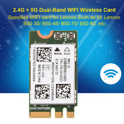 802.11AC 2.4/5GHz NGFF/M2 Bluetooth 4.0 WIFI Wireless Network Card for Lenovo SG
