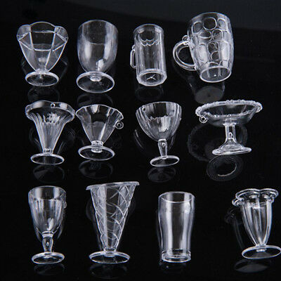 12Pcs Doll House Cups Miniatures Tableware Ice Cream Sundae Cup Craft for Kids