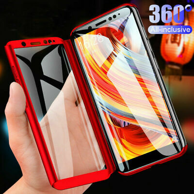 👍For Samsung J1 J2 J3 J5 J7 Pro 2017 360° Full Cover Hybrid Case+Tempered Glass