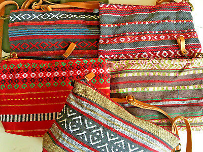 wholesale lot of 5 handloom bags.29 x 20cm.Fully lined.Can be conveted to clutch