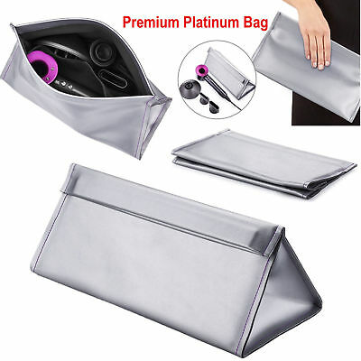 Premium platinum Carrying Case Storage Bag Pouch For Dyson Supersonic Hair Dryer