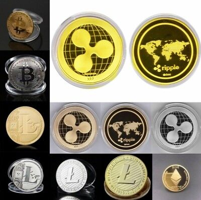 BITCOIN!! Gold Plated Physical Bitcoin in protective acrylic case FAST SHIPPING!