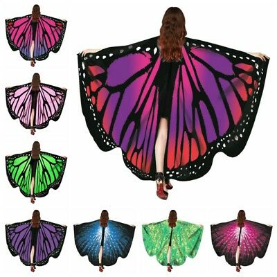 Stylish Women Butterfly Wing Shawl Stole Scarf Wrap Cloak Costume Party Gift UK