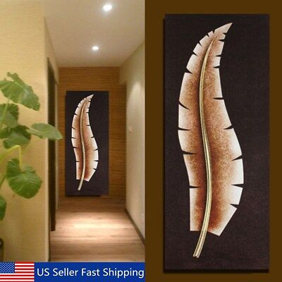 Modern Abstract Canvas Leaves Painting Print Home Wall Art Picture No Frame