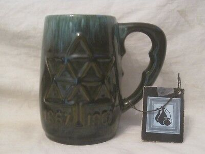 Blue Mountain Pottery Canadian Handcrafted 1867 1967 glazed large cup mug w/ tag
