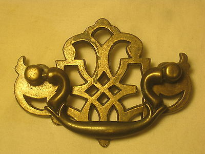 single ornate vintage pull handle unique metal pattern hardware accessory