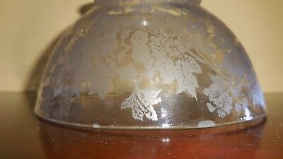 "Etched  Glass  Shade Antique For Gas Chandelier   Light 4"" Fitter"