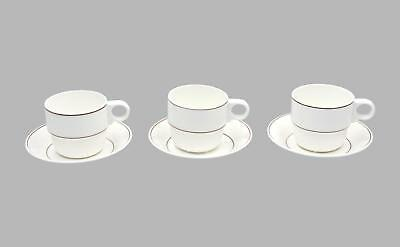 3 x Gustavsberg coffee cups & saucers Modernist Swedish