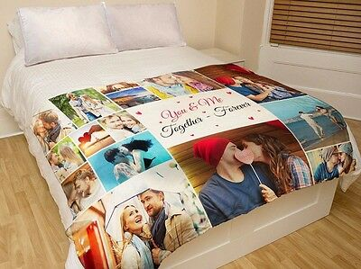 Custom Photo Blanket for Your Bed Personalized Gift Warm and Fully Customizable