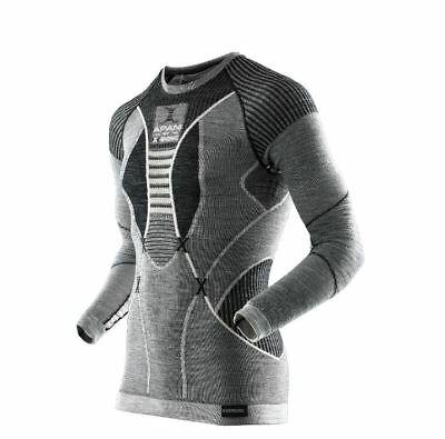 X-Bionic Apani Fastflow Shirt Long Herren Men Sport Sportmen Black/grey/ivory