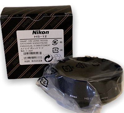 New Nikon HS-12 Lens Hood 52mm Snap-On for 50mm f/1.2 Lens