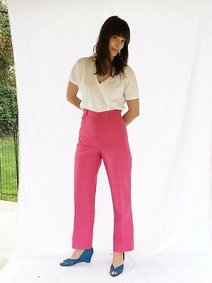 Vintage Womens 70s Pants Jeans 30 X 28 Hot Pink
