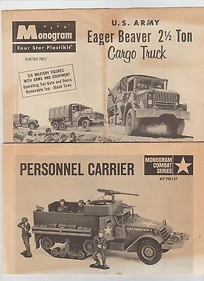 Monogram Model Instructions Military Army Personnel Carrier Eager Beaver 2-1/2
