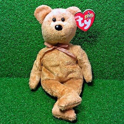 a6641e95eb3 Ty Beanie Baby Cashew The Teddy Bear 2000 Retired Plush Toy MWMT - Free  Shipping