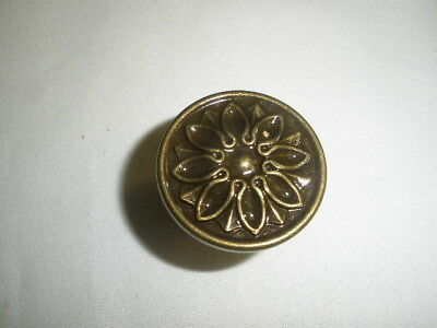 Vintage ANTIQUE BRASS COLOR Cabinet Door/Drawer -KNOB -NO BAR CODE-NOS-Lot #22