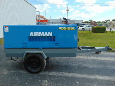 "2011 Airman Pds-185S Portable Tow Air Compressor ""isuzu 55 Hp Diesel"""