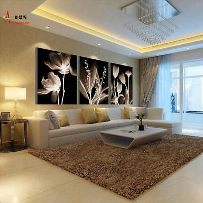 3 Panel Canvas Painting Decoration Flowers Picture Wall Living Room HD Print