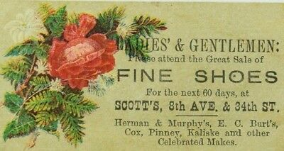 1880's Scott's Fine Shoes Herman & Murohy's, E.C Burt's, Cox, Pinney, Etc.. F83