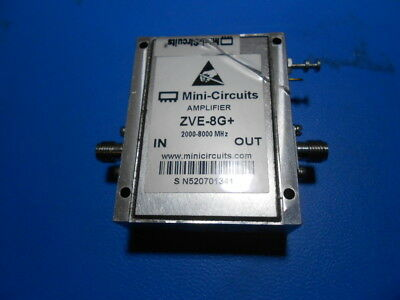 Mini-Circuits ZVE-8GX+ SMA Medium High Power Amplifier 2000 – 8000 MHz