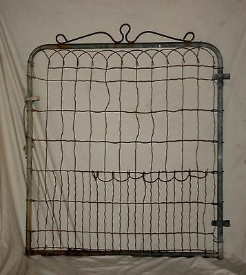Vintage Wire & Metal Yard Or Garden Cottage Style Gate Yard & Garden Art Trellis