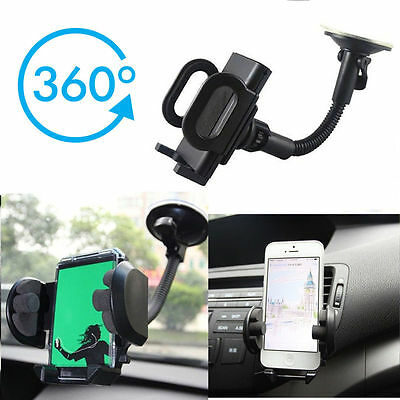 Streetwize SWGH14 Adjustable Gadget Mobile Phone Holder Suction Mount 360 Degree