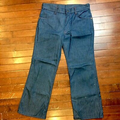 Sears Growing Girl Rough Housers Girls Womens 32x27 Vintage 70s Boot Cut Jeans