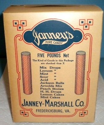 Janney's Pure Candy 5 Lb  Candy Store Box Drug Store