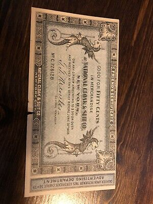 1908 Advertising Certificate Note National Cloak Suit Company New York, Nice!