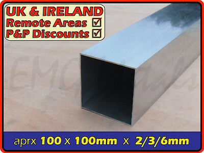 Aluminium Square Tube ║ 100x100 mm / 102mm ║ box section,profile,pipe,alloy,post