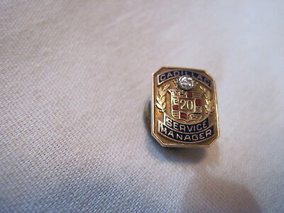 Cadillac Service Manager 10K Gold With Diamond Rare Lapel Pin ,hat Pin.tie Tac