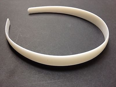 "Wholesale Lot 24 Girls or Womens 1/2"" wide White Plastic Headbands Free US Ship"
