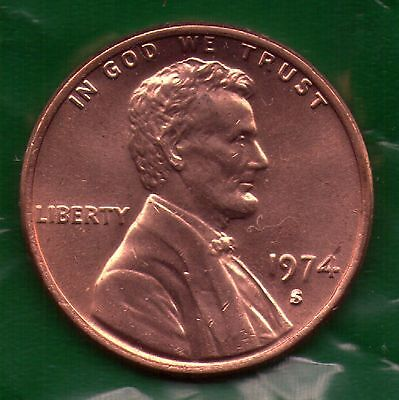 1974 S Penny   UNC   SELL-OFF   Slot Filler or Starter Coin   (74S1106)