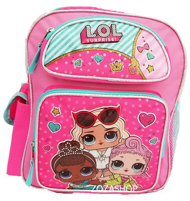 "L.O.L Surprise! Small School Backpack 12"" Girls Bag Pink LOL Bag New"