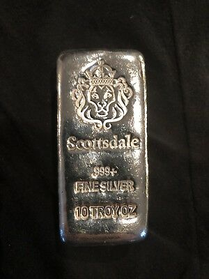 "Scottsdale Silver 10 Oz ""Chunky"" .999 Silver Bar"