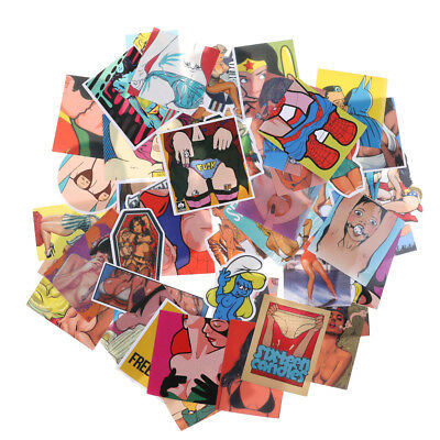 50Pcs Sexy and Vulgar Skateboard Stickers DIY Laptop Luggage Stickers Decals KfL