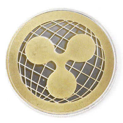 Gold & Silver Ripple Commemorative Round Collectors Coin XRP Phycial Coins Gifts