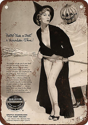 "7"" x 10"" Metal Sign - 1958 Microsheen Boot Polish and Cheesecake - Vintage Look"